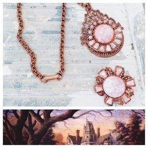 Vintage Necklace & Brooch Set